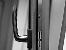 Window handle on fiberglass  window. Stock Image
