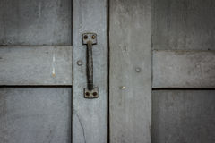 Window Handles. On the gray of old windows Royalty Free Stock Image