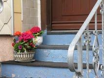 Window, Handrail, Flower, House stock photos