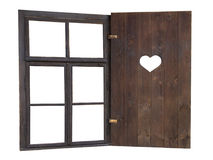 Window with a heart Royalty Free Stock Images