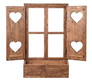 Window with heart Royalty Free Stock Image