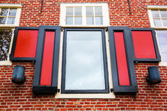 Window of a historic building in Hoorn, Netherlands Royalty Free Stock Photos