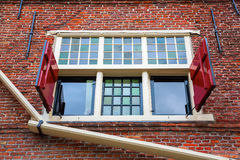 Window of a historic building in Hoorn, Netherlands Royalty Free Stock Images