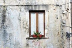 Fiumefreddo window. A window in the historic town of fiumefreddo del bruzio in italy stock photos