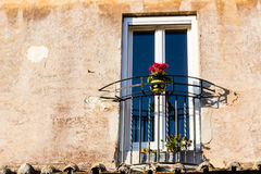 Window of historical building in the center of Rome Stock Photos