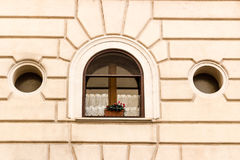 Window of historical building in the center of Rome Stock Photography