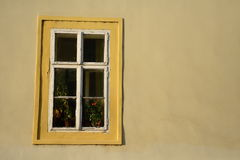 Window. Historical window in Prague city center Stock Images