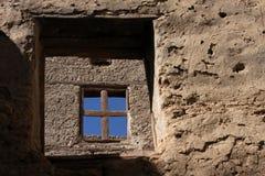 Window through the hole Stock Photo