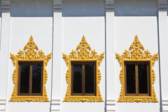 Window of Hor Phra  in Temple of The Wat Rhai Pa Royalty Free Stock Photos