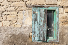 Window of a house in Country side, Anatolia Stock Photo