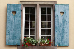 Window of a house in Eguisheim, Alsace, Stock Photos