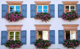 Window of a house in Freiburg Stock Image