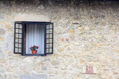 Window. Of house in Santillana del Mar, Cantabria (North of Spain Royalty Free Stock Photos