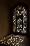 Window in Humayun Tomb in Delhi Stock Photo