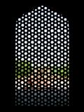 Window humayuns tomb. A mosaique-like window in humayuns tomb, dehli, india Royalty Free Stock Photos
