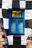 Window of The Hundertwasser House in Vienna Stock Photo