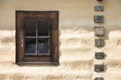 Window of a hut. Wooden window of a hut Royalty Free Stock Photos