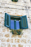 Window from Hvar island, Croatia Royalty Free Stock Images