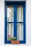 Window with hydraangea Royalty Free Stock Photography