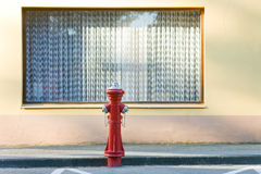 Window and hydrant Royalty Free Stock Image