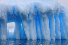 Window in iceberg Royalty Free Stock Image