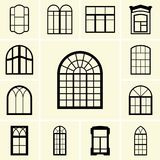 Window icons Royalty Free Stock Photo