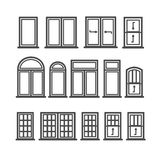 Window Icons Set Stock Images
