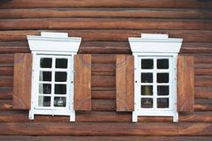 Window In A Wooden House Royalty Free Stock Photos