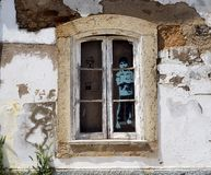 Free Window In Building In Lagos Portugal With Young Boy Stock Images - 158704834