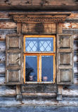 Window In Old Wooden Country House Royalty Free Stock Photography