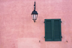 Window In The Wall Pink Royalty Free Stock Images