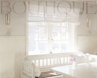 Window indoors, with text,Boutique. Royalty Free Stock Image