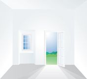 Window inside one Stock Photography