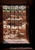 Window inside Taourirt Kasbah Stock Photography