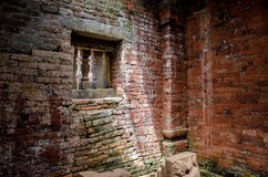 Window. Inside the temple at My Son Royalty Free Stock Photography