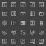 Window installation icons Stock Photography