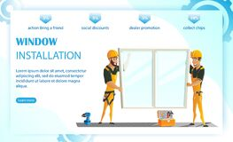 Free Window Installation, Replacement Plastic Windows. Stock Images - 177403174