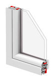 The window insulation. 3d generated picture of a part from a window Stock Photos