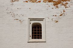 Window with iron bars on brick wall Royalty Free Stock Photo