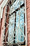 Window with iron bars royalty free stock images