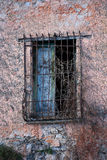 Window with iron bars. Of the old prison Stock Photos