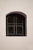 Window with iron bars. Of the old prison Stock Photo