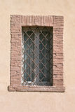 Window with iron grating Stock Image