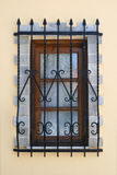 Window with iron security bars Stock Photos