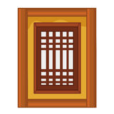 Window isolated illustration Stock Photo