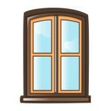 Window isolated illustration Royalty Free Stock Photos