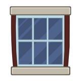 Window isolated illustration Royalty Free Stock Photography