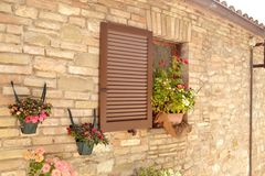 Window in an italian  house. Royalty Free Stock Image