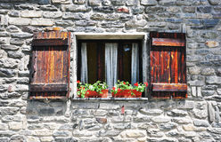 Window in italian house Royalty Free Stock Images