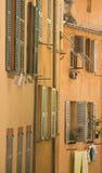 Window italy. Street view of windows in an italian town Stock Photos